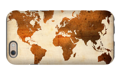 World  Map 7 iPhone 6 Case by  NaxArt