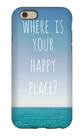 Where Is Your Happy Place iPhone 6 Case by Susannah Tucker