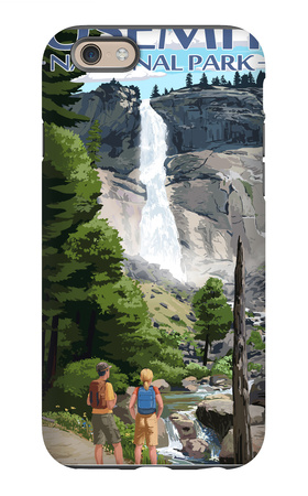 The Mist Trail - Yosemite National Park, California iPhone 6s Case by  Lantern Press