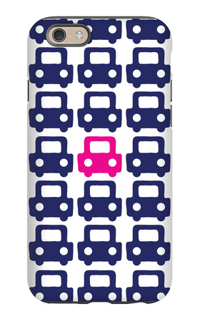Pink Parking Lot iPhone 6 Case by  Avalisa