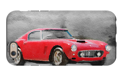 1960 Ferrari 250 GT SWB Watercolor iPhone 6 Case by  NaxArt