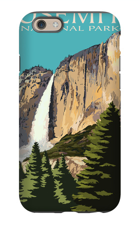 Yosemite Falls - Yosemite National Park, California iPhone 6s Case by  Lantern Press