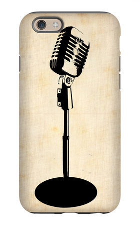 Vintage Microphone iPhone 6 Case by  NaxArt