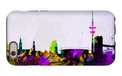 Hamburg City Skyline iPhone 6 Case by  NaxArt