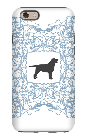 Blue Lab Frame iPhone 6 Case by  Avalisa
