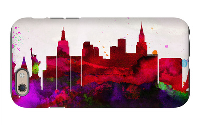 Las Vegas City Skyline iPhone 6s Case by  NaxArt