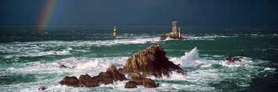 Winter Storm Weather at La Vieille Lighthouse, Finistere, Brittany, France Photographic Print by Panoramic Images