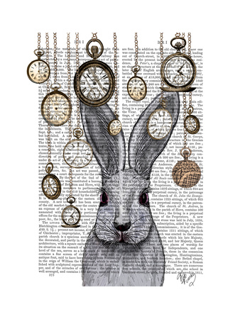 Rabbit Time Art by  Fab Funky