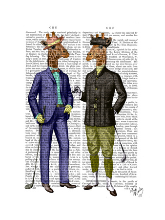 Golfing Giraffes Poster by  Fab Funky