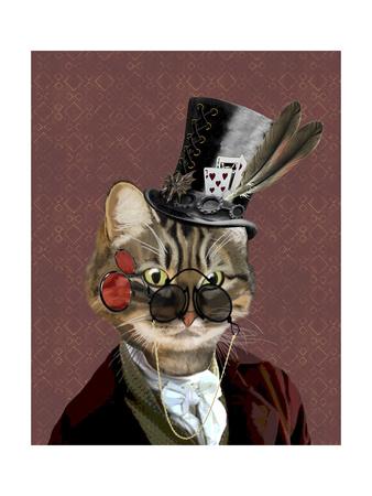 Phileas Feline Steampunk Cat Prints by  Fab Funky