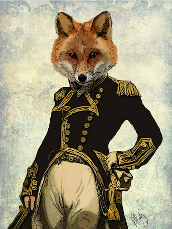 Admiral Fox Full Prints by  Fab Funky
