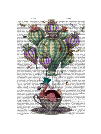 Dodo in Teacup with Dragonflies Art by  Fab Funky