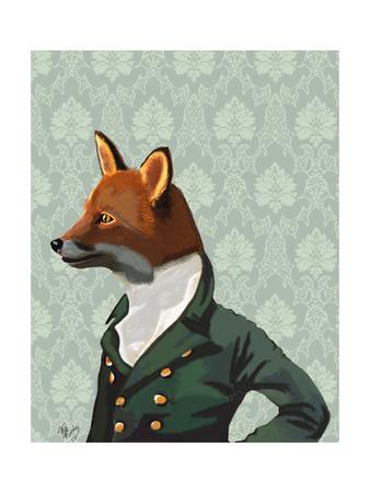 Dandy Fox Portrait Prints by  Fab Funky