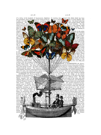 Butterfly Airship Poster by  Fab Funky