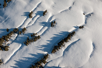 An Aerial of Snow Covered Mountain Side in Carbondale, Colorado Photographic Print by Pete McBride