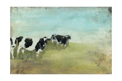 Country Drive Cows II Art by Naomi McCavitt