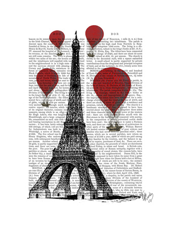 Eiffel Tower and Red Hot Air Balloons Posters by  Fab Funky