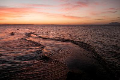 Sand Bar in Lake Cocibolca, or Lake Nicaragua at Sunset Photographic Print by Jordi Busque
