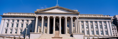 U.S. Department of Treasury with Statue of Alexander Hamilton, Washington Dc Photographic Print by Panoramic Images