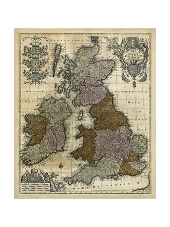 Map of England, Scotland and Ireland Prints