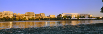 Kennedy Center and Watergate Hotel across Potomac River, Washington Dc Photographic Print by Panoramic Images