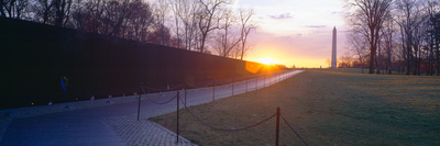 Vietnam Veteran's Memorial at Sunrise, Washington Dc Photographic Print by Panoramic Images