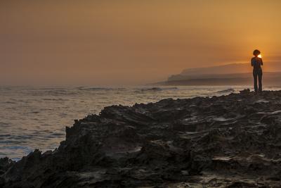 Shoreline Sunrise, from Kaehu Point, Mo'Omomi Preserve, Nature Conservancy, Molokai, Hawaii Photographic Print by Richard Cooke III