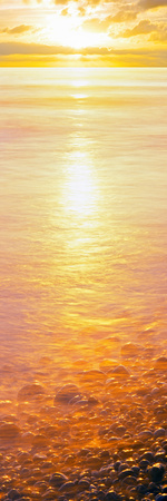 View of Ocean During Sunset, Calumet Park Beach, La Jolla, San Diego, California, Usa Photographic Print by Panoramic Images
