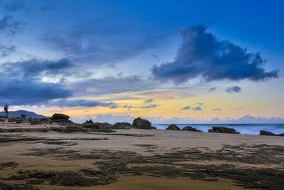 Sandy Shore at Kaehu Point, Mo'Omomi Beach, Nature Conservancy, Molokai, Hawaii Photographic Print by Richard Cooke III