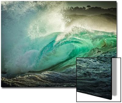 Wave Photo at Papohaku Beach, West End, Molokai, Hawaii UMĚNÍ NA AKRYLU