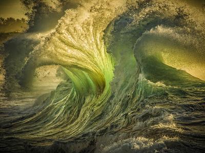 Wave Photo at Papohaku Beach, West End, Molokai, Hawaii Kunst på metal af Richard A Cooke III
