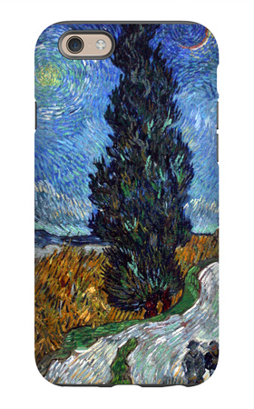 Road with Cypress and Star iPhone 6s Case by Vincent van Gogh