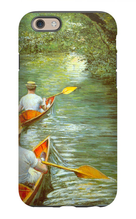 Canoeing iPhone 6s Case by Gustave Caillebotte