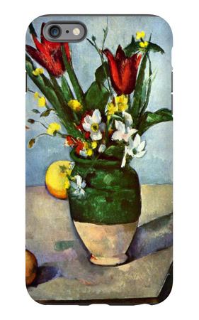 The Vase of Tulips iPhone 6 Plus Case by Paul Cézanne