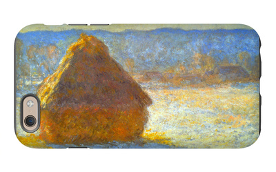 Haystack, Morning Snow Effect iPhone 6s Case by Claude Monet