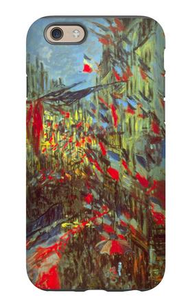 Rue Saint-Denis in Paris, Celebration of 30th June 1878 iPhone 6s Case by Claude Monet