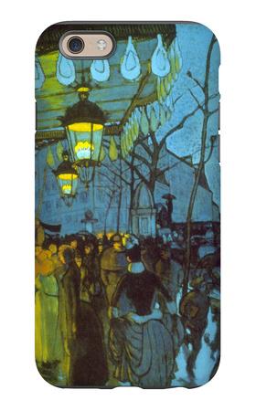 Avenue De Clichy iPhone 6 Case by Louis Anquetin