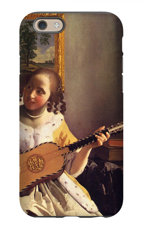 The Guitar Player iPhone 6 Case by Jan Vermeer