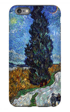 Road with Cypress and Star iPhone 6 Plus Case by Vincent van Gogh