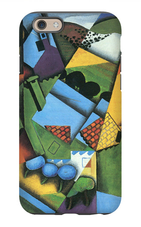 Landscape with Houses in Céret iPhone 6 Case by Juan Gris