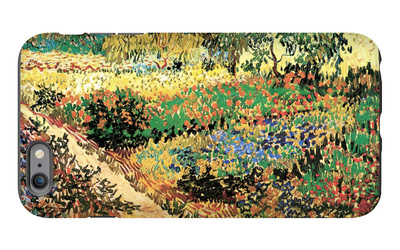 Flowering Garden with Path iPhone 6 Plus Case by Vincent van Gogh