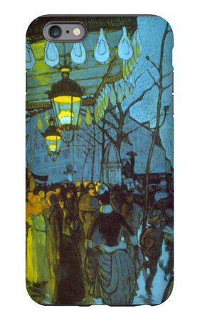Avenue De Clichy iPhone 6 Plus Case by Louis Anquetin