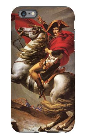 Napoleon Crosses the Great St. Bernard Pass iPhone 6 Plus Case by Jacques-Louis David