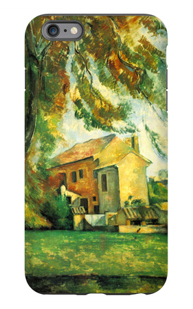 Farmhouse and Chestnut Trees at Jas de Bouffan iPhone 6 Plus Case by Paul Cézanne