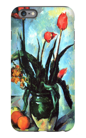 Tulips in a Vase iPhone 6 Plus Case by Paul Cézanne