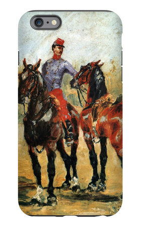 Groom with Two Horses iPhone 6 Plus Case by Henri de Toulouse-Lautrec