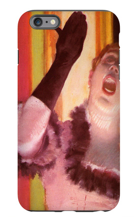 The Singer with the Glove iPhone 6 Plus Case by Edgar Degas