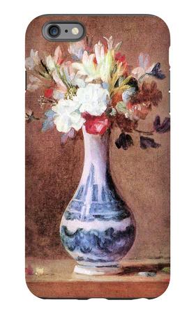 Flowers in a Vase iPhone 6 Plus Case by Jean-Baptiste Simeon Chardin