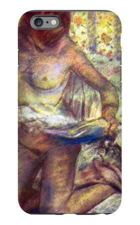 Kneeling Woman iPhone 6 Plus Case by Edgar Degas