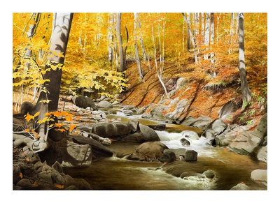 October Creek Prints by Alexander Volkov